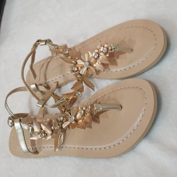 Beach Sandals Poshmark ShoesNew Belle Gold Bella Leaf Thong TOXkZPiu